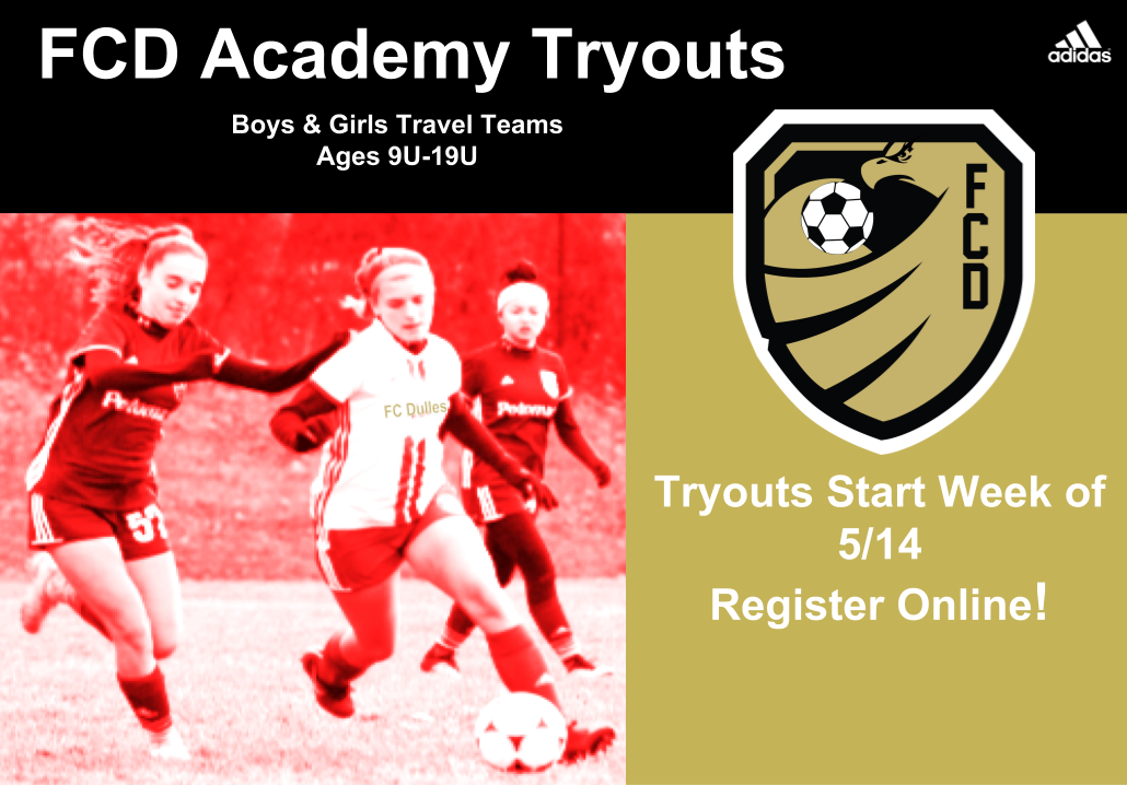 FC Dulles Academy Supplemental Tryout Schedule UPDATED 6-24-18